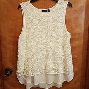 Apartment 9 size XL Lace overlay blouse